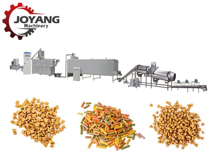 Kibble Dog Pet Food Production Line Twin Screw Fish Feed Processing Line