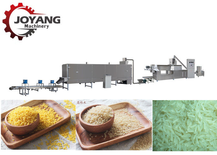 Twin - Screw Artificial Rice Making Machine Fortified Rice Kernel Production